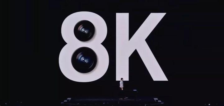Galaxy S20 8K Video Kayıtları Dakikada 600MB Yer Kaplıyor
